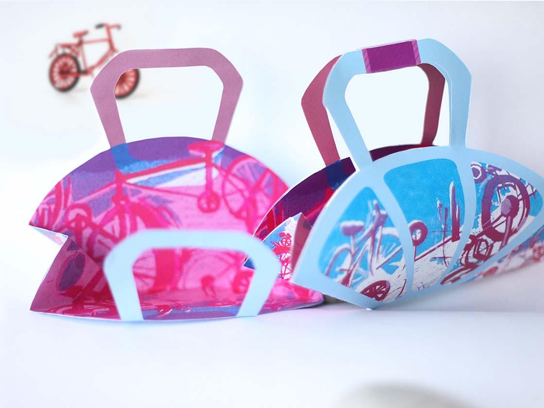 Bicycle pattern Paper bagの画像